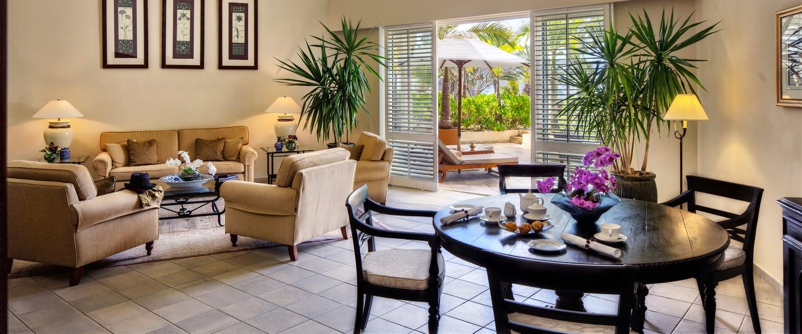 Colonial Ocean View Suite at The Residence Mauritius, Indian Ocean
