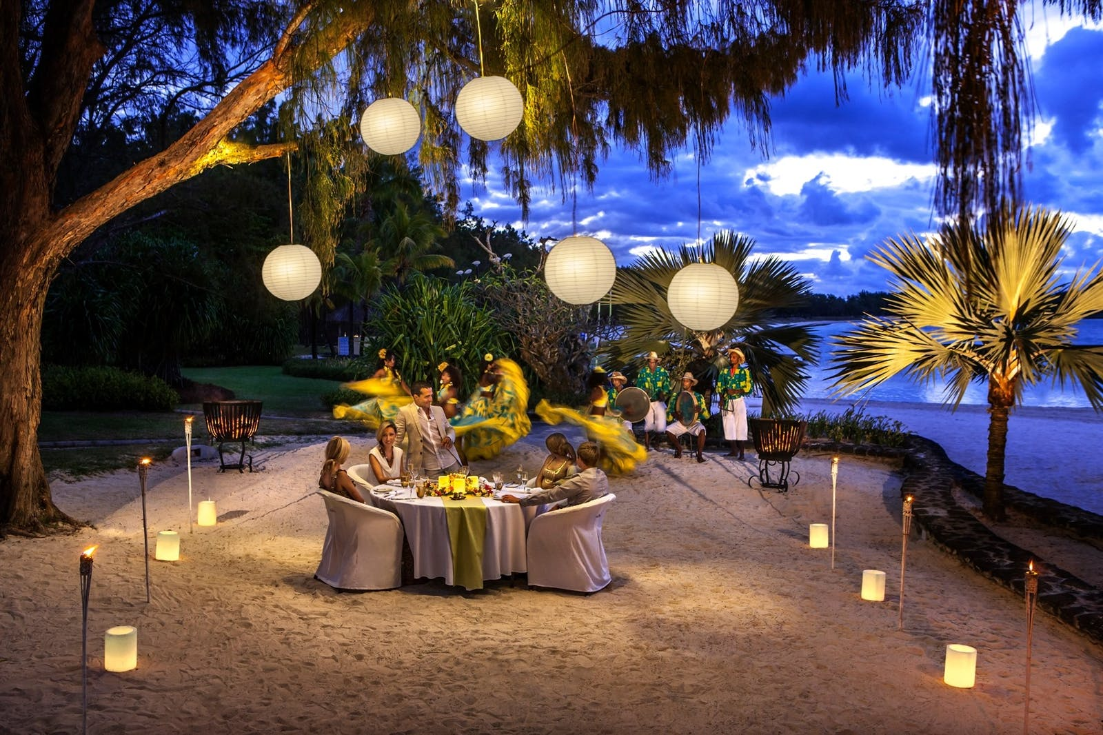 Beach Dinner at The Residence Mauritius, Indian Ocean