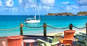 Deck chairs overlooking the beach at Galley Bay Resort & Spa, Antigua