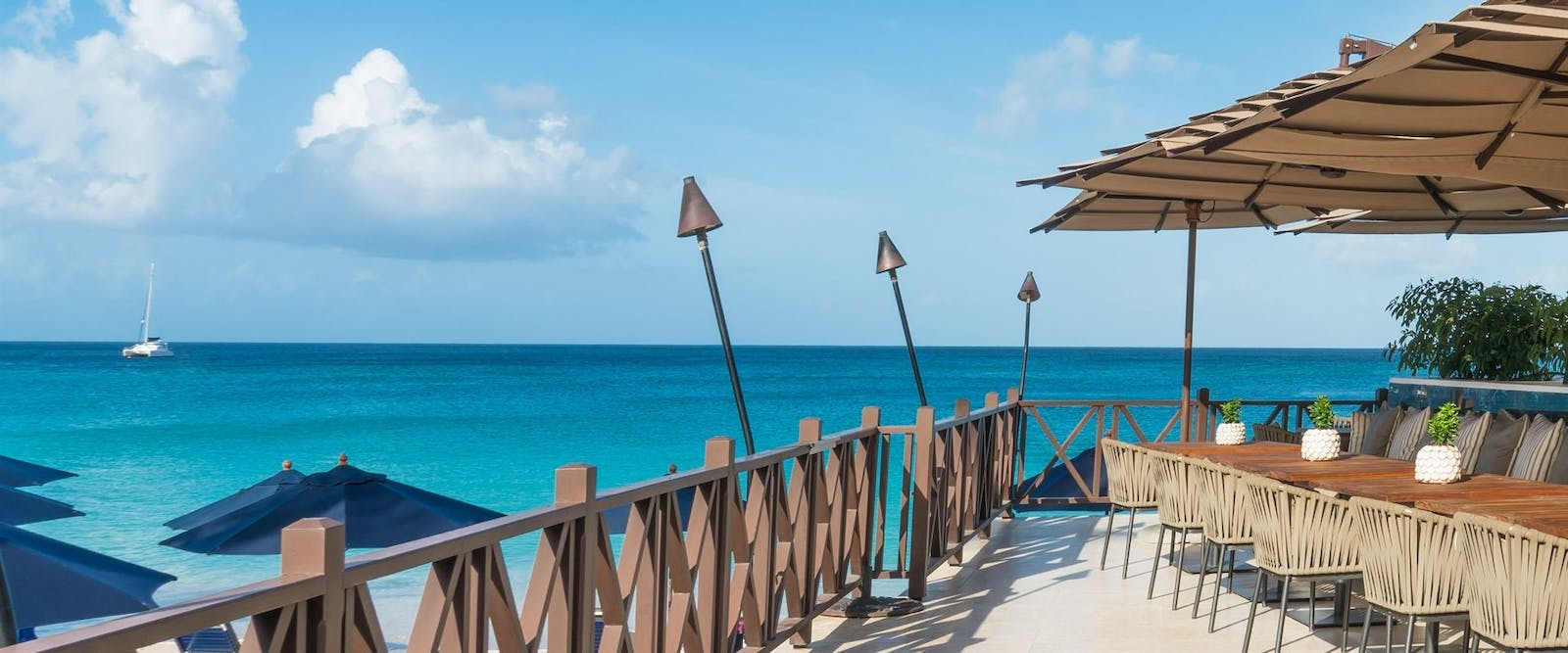 Beach-side Deck at The Sandpiper, Barbados