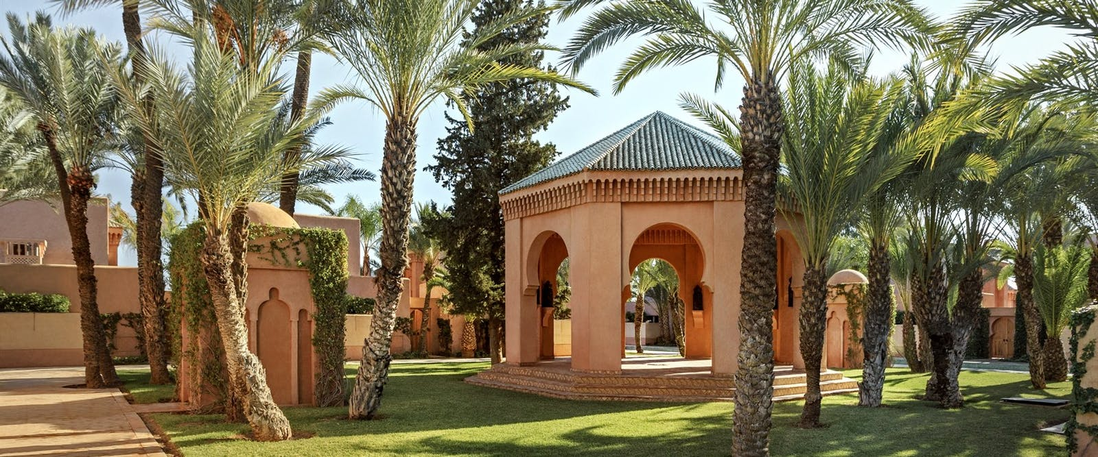 Gardens at Amanjena, Marrakech, Morocco