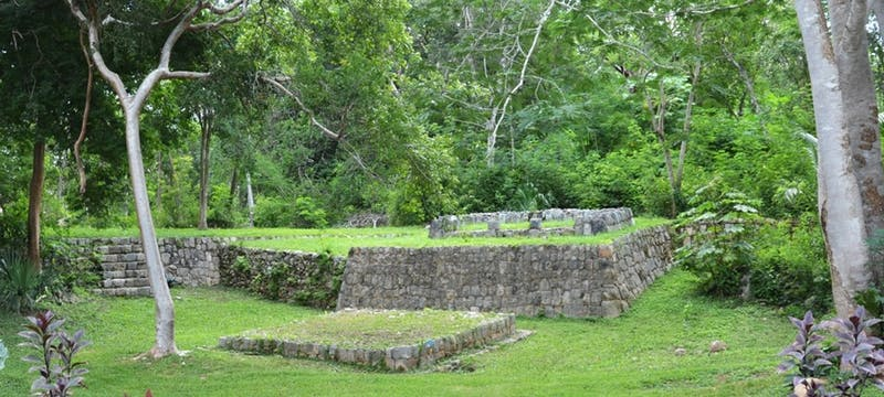 Mayan Temple Gardens at The Lodge at Chichen Itza