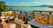 Balcony with Sea View at Gaya Island Resort