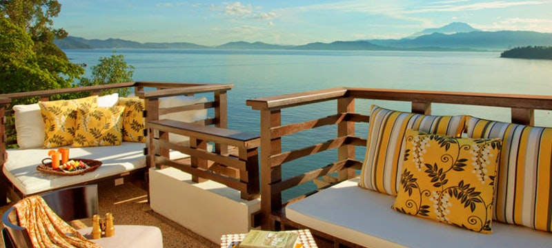 Balcony with Sea View at Gaya Island Resort