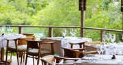 Open air restaurant, The Gazebo, at GoldenEye, Jamaica