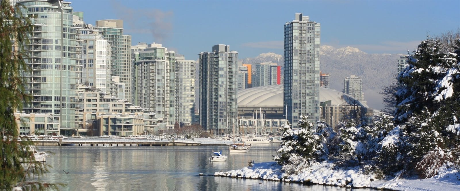 a wintry vancouver