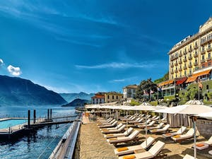 exterior of grand hotel tremezzo italian lakes italy