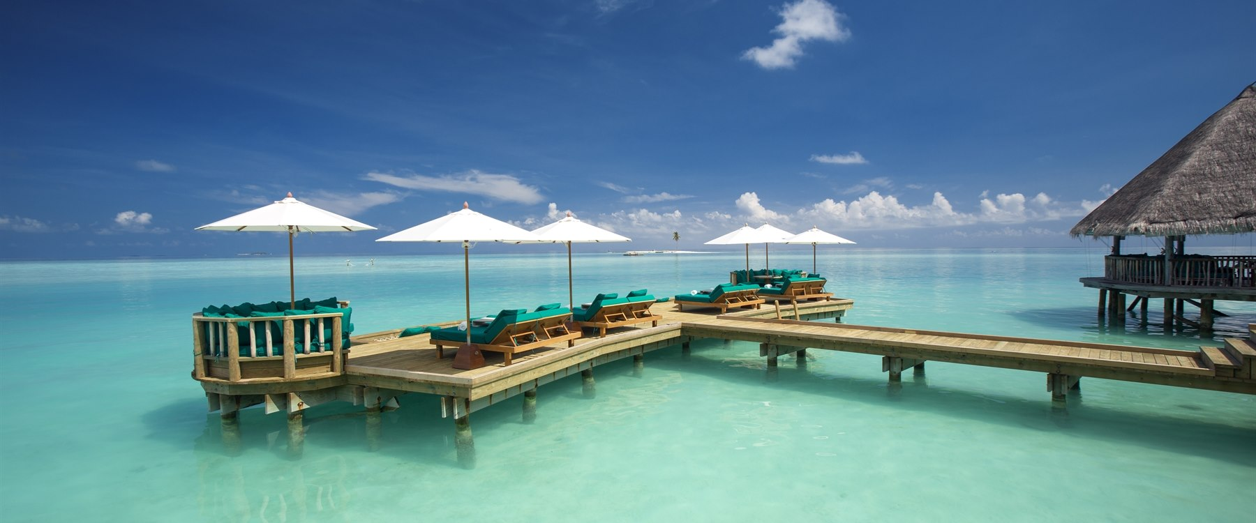 Over water bar extended deck at Gili Lankanfushi, Maldives