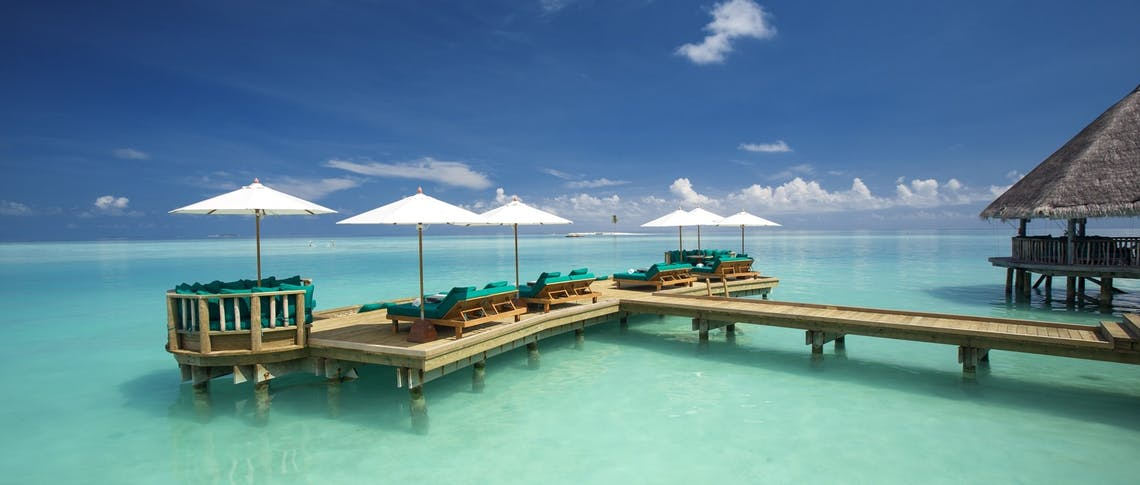 Over water bar at Gili Lankanfushi, Maldives