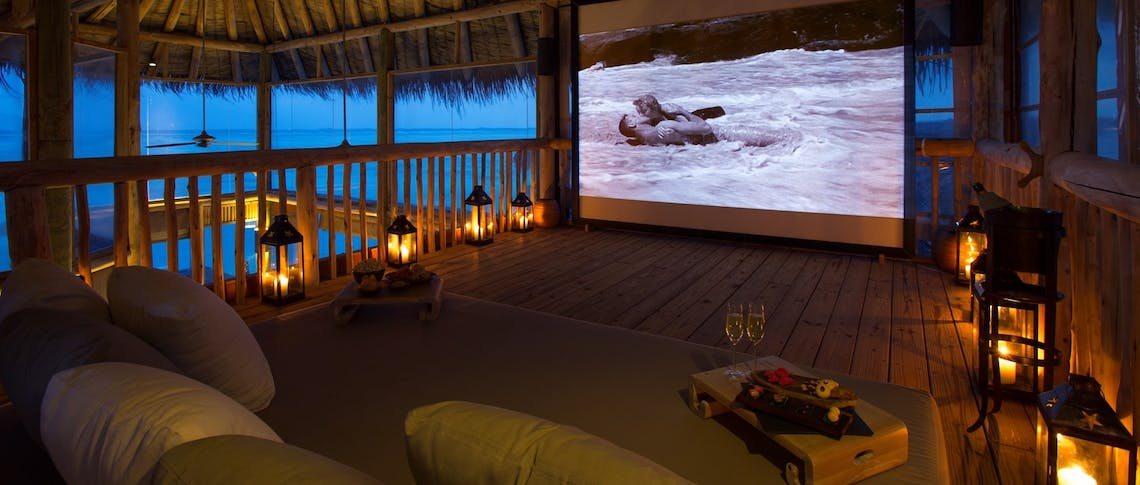 Private Reserve Open Air Cinema at Gili Lankanfushi, Maldives