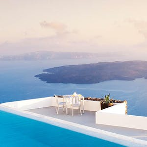 Pool Area at Grace Santorini