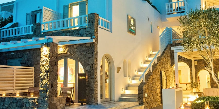 Front Exterior, Grace Mykonos, Greece