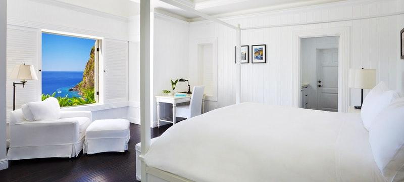 Grand Luxury Villa Bedroom at The Villas at Sugar Beach, A Viceroy Resort