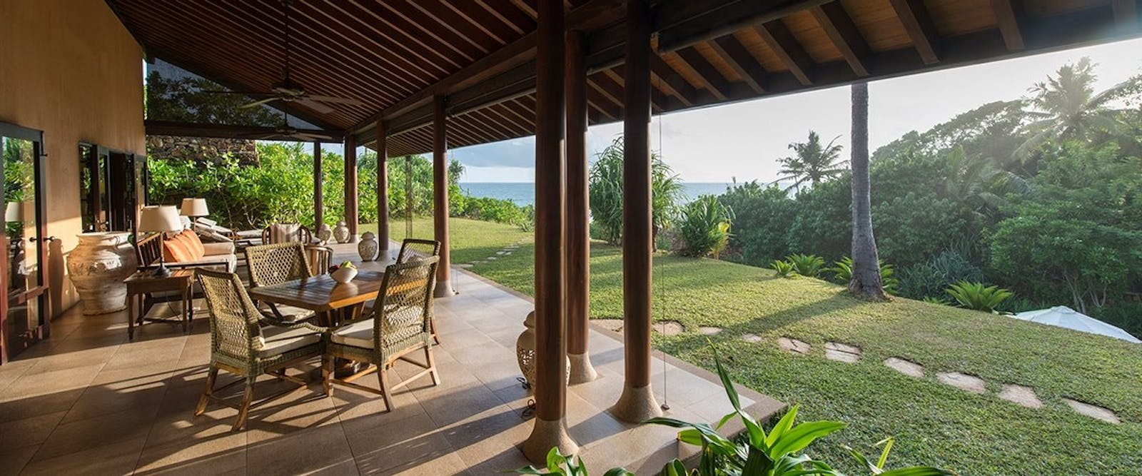 Grand Ocean View Villa Verandah at Cape Weligama, Sri Lanka