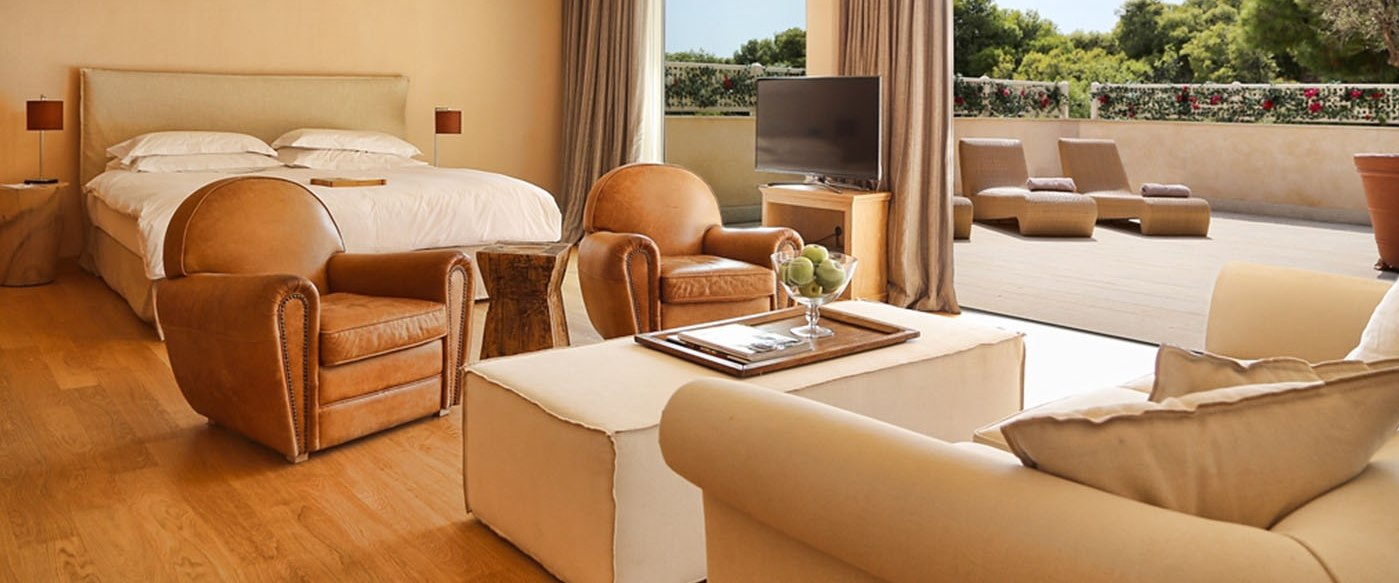 grand terrace suite at The Margi Hotel, Greece