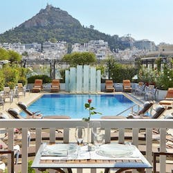 Swimming pool at Hotel Grande Bretagne, Greece