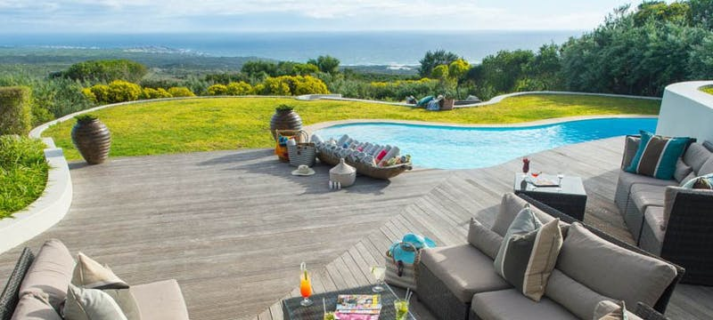 Outside pool at Grootbos Nature Reserve, Gansbaai