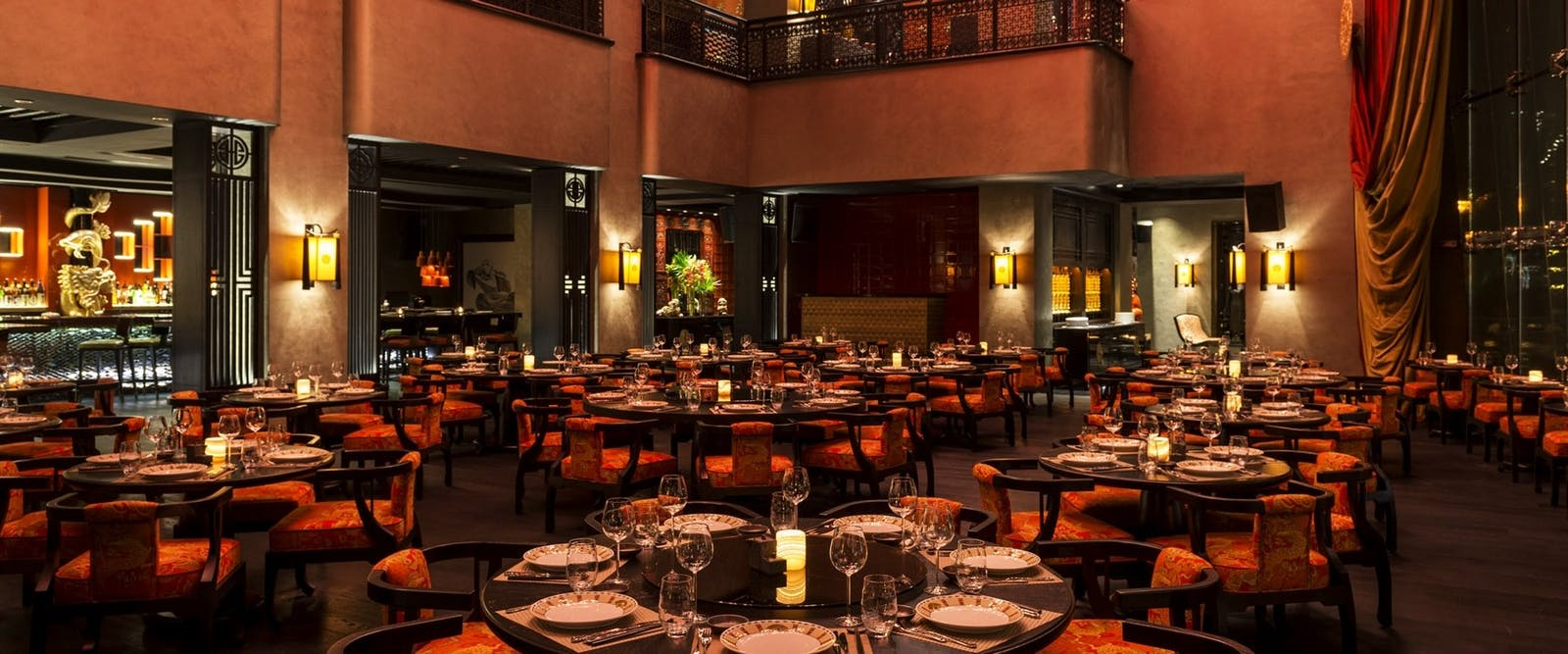 Buddha Bar dining at Grosvenor House, Dubai