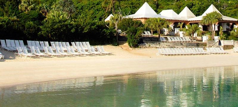 The beach next to Grotto Bay, Bermuda