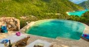 Terrace area in 3 Bedroom Villa at Guana Island, British Virgin Islands