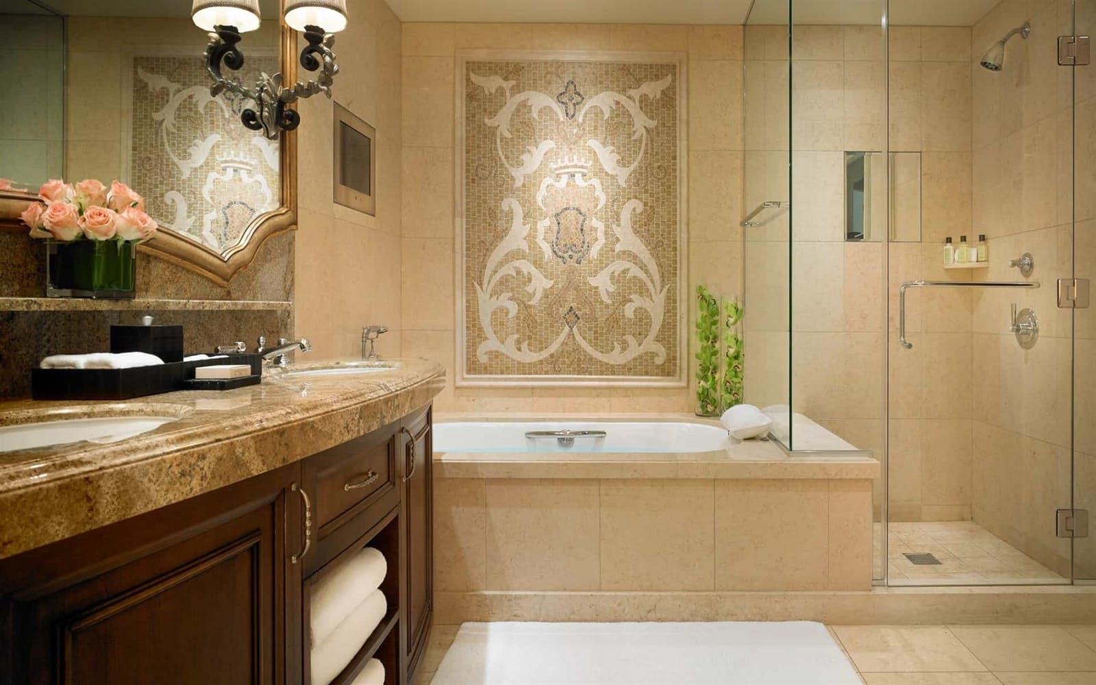 Guestroom Bathroom at at Montage Beverly Hills, Los Angeles