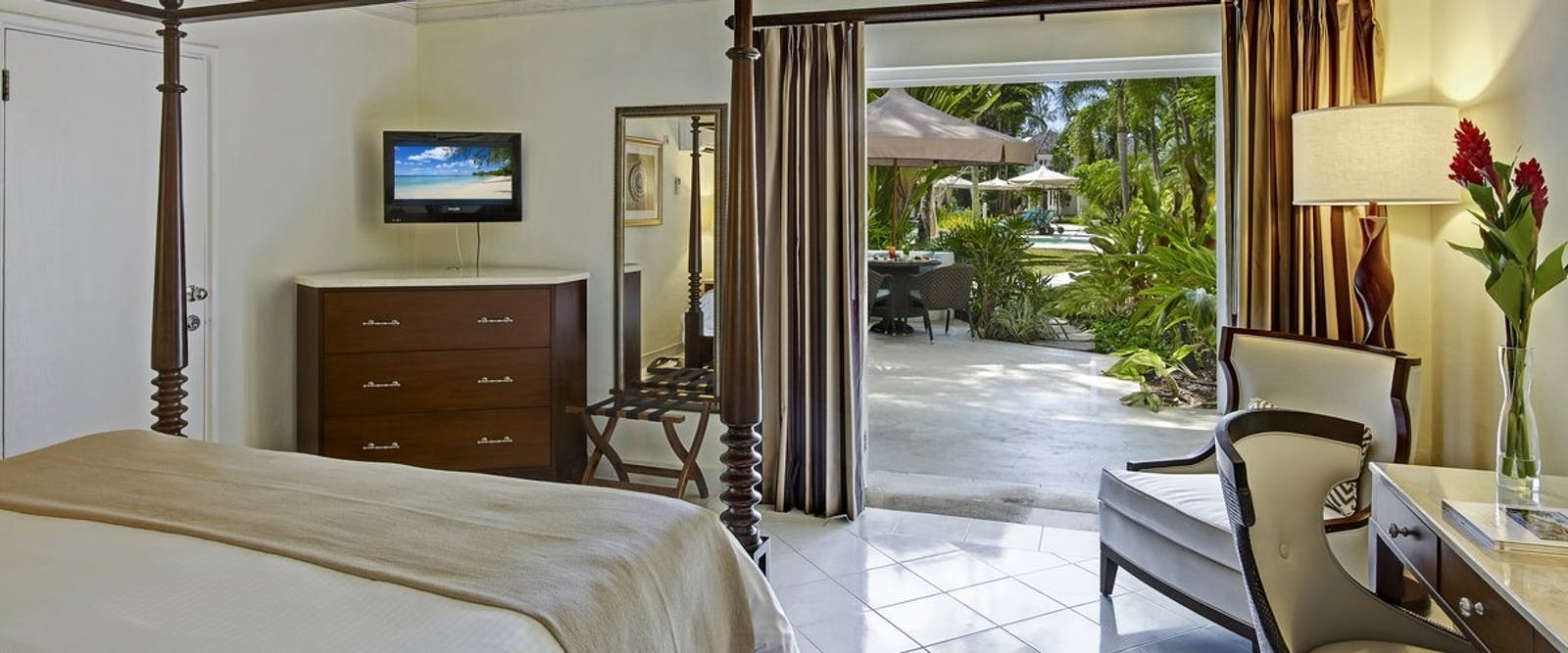 Pool Garden View Room at Colony Club by Elegant Hotels, Barbados, Caribbean
