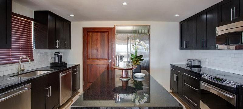 Kitchen area of Crow's Nest Villa at Peter Island Resort & Spa, British Virgin Islands