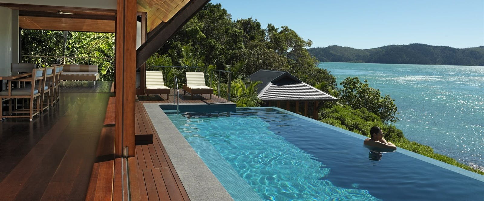 Private swimming pool, qualia, hamilton island