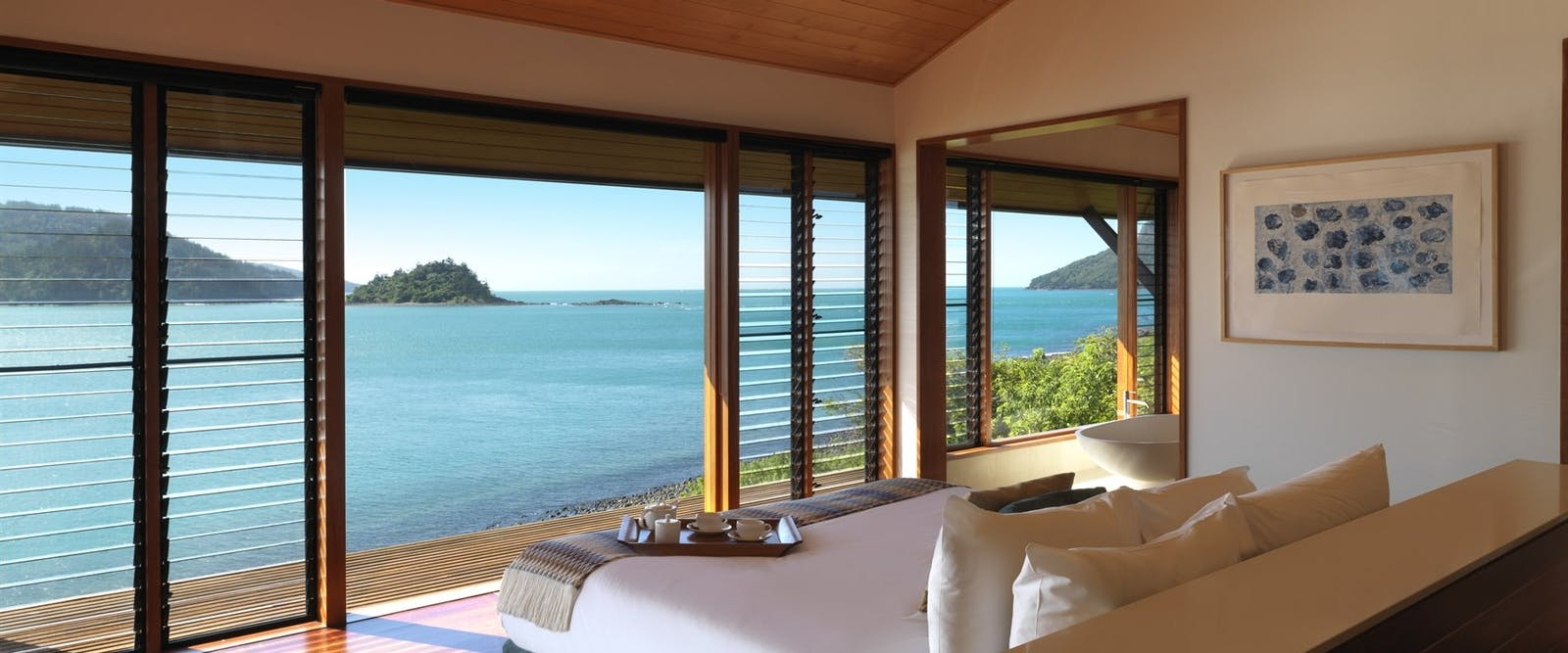 Beautiful bedroom view, qualia, hamilton island