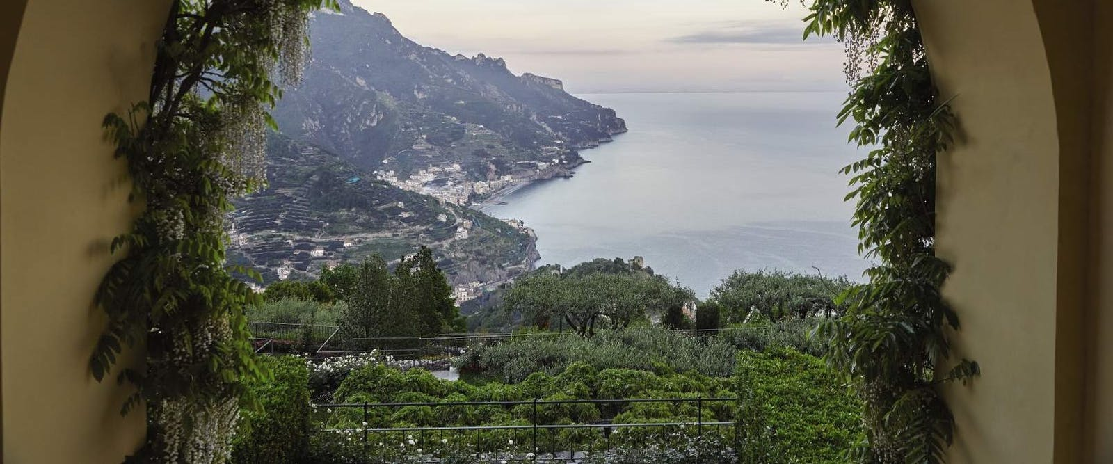 Beautiful View from Belmond Hotel Caruso, Amalfi Coast, Italy