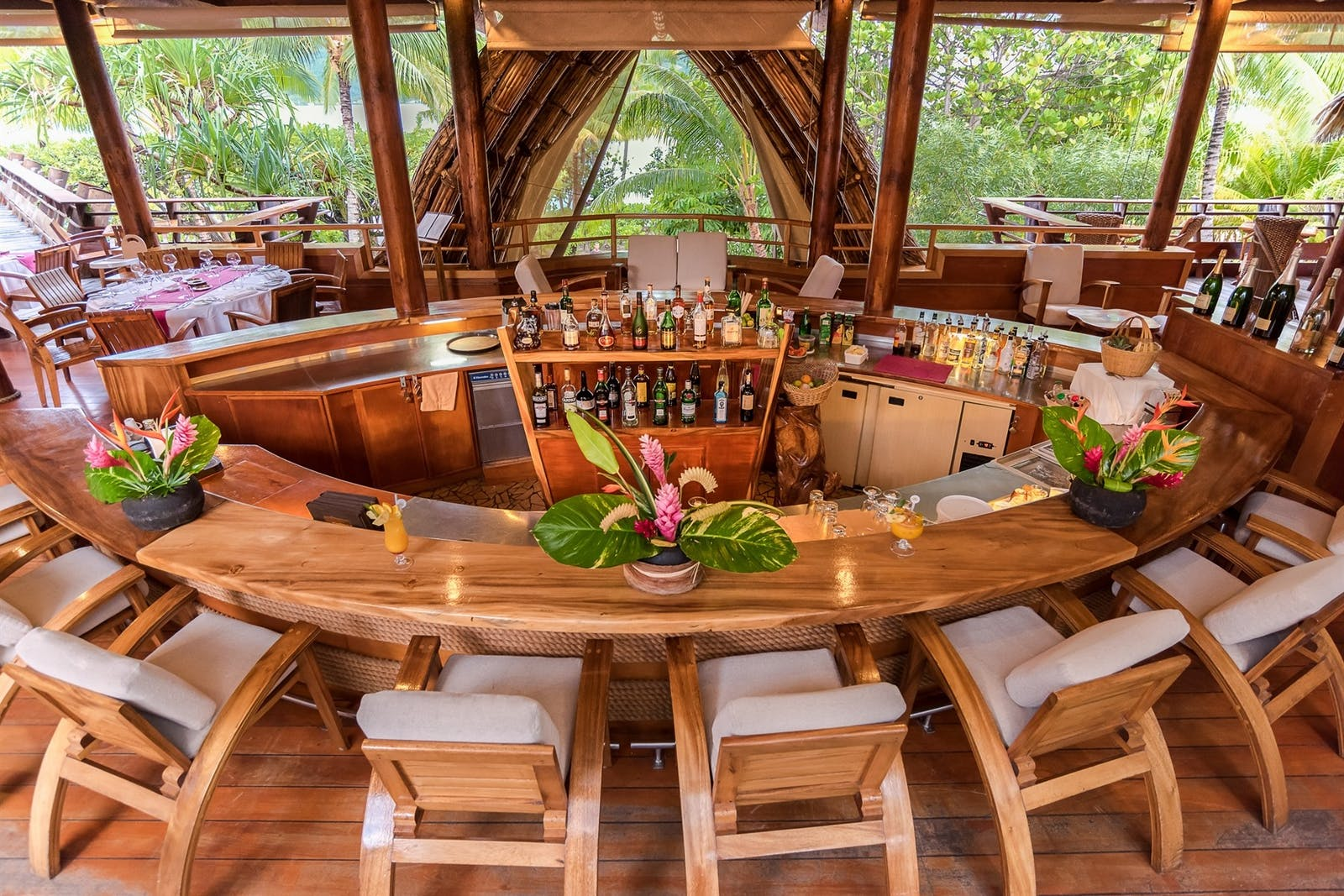 Beach Bar at Le Taha'a Island Resort & Spa, Tahiti, French Polynesia