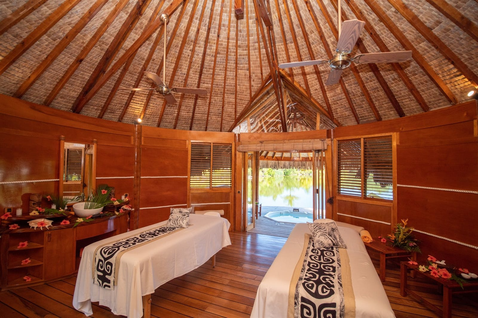 Spa at Le Taha'a Island Resort & Spa, Tahiti, French Polynesia