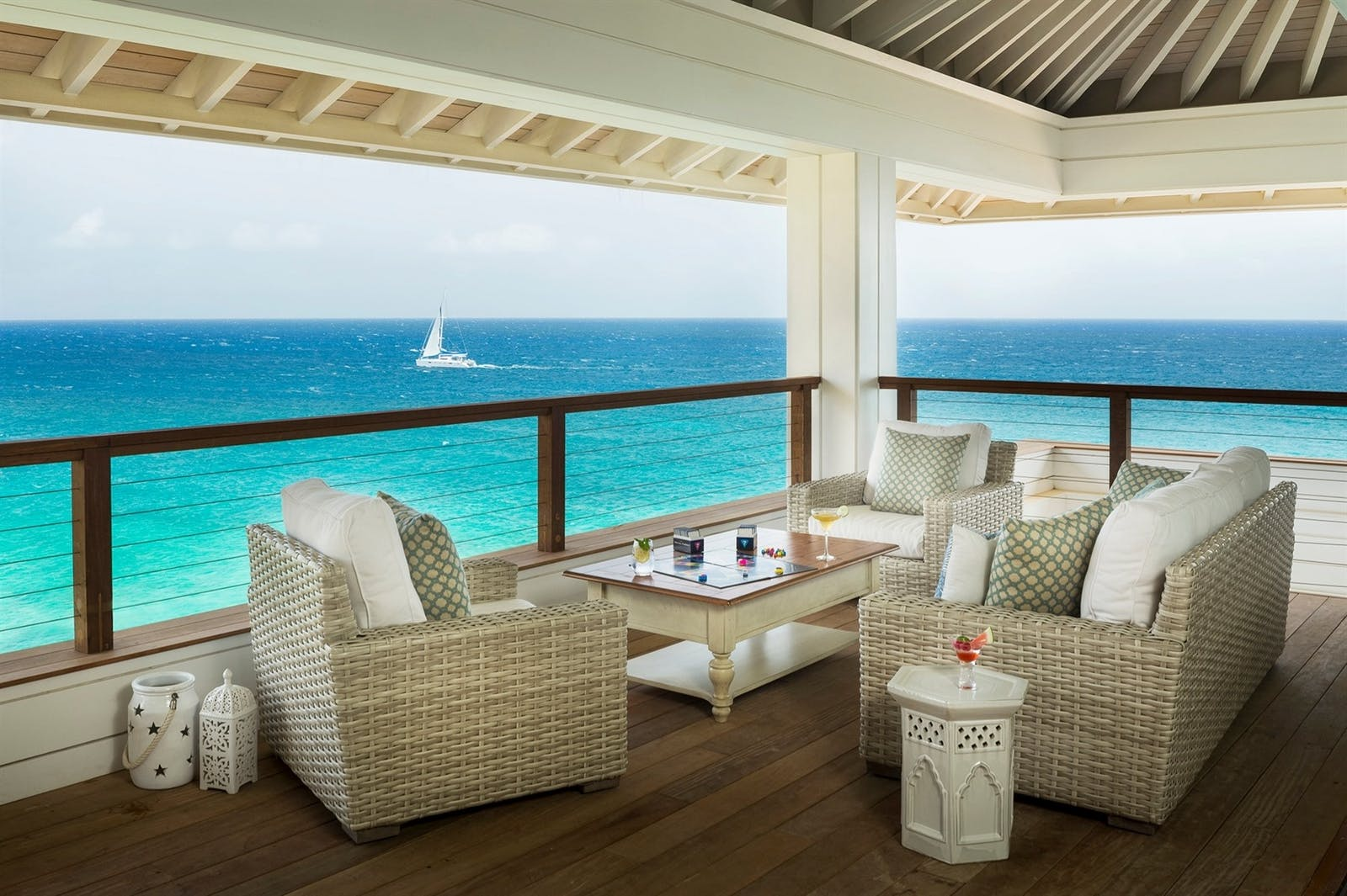 The Great Room deck at Headland House, Moskito Island, Virgin Limited Edition, British Virgin Islands