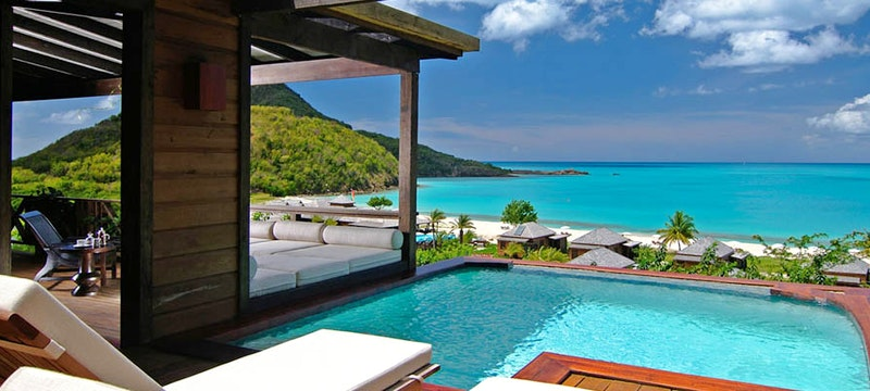 Relax in a private pool at Hermitage Bay, Antigua