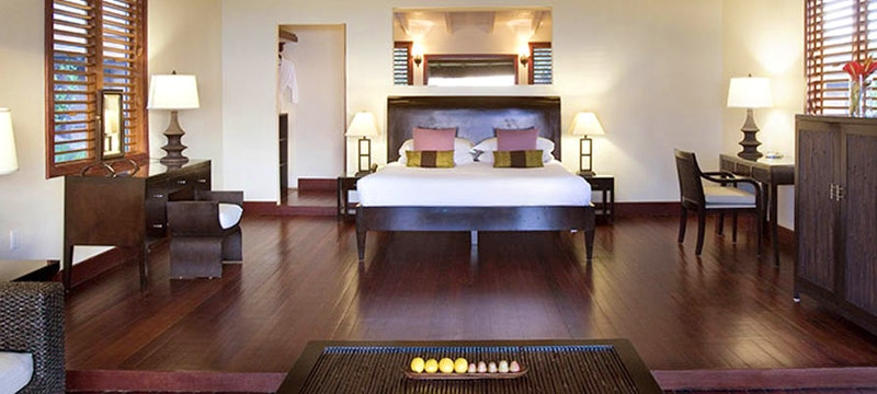 A luxurious sea-facing suite at Hermitage Bay, Antigua