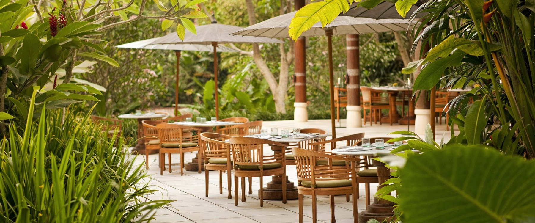 Kemiri Terrace Seating Landscape at Uma By COMO, Ubud