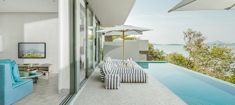 One bedroom pool villa sundeck at COMO Point Yamu, Phuket, Thailand