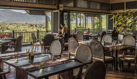 Restaurant at Anantara Golden Triangle Elephant Camp & Resort