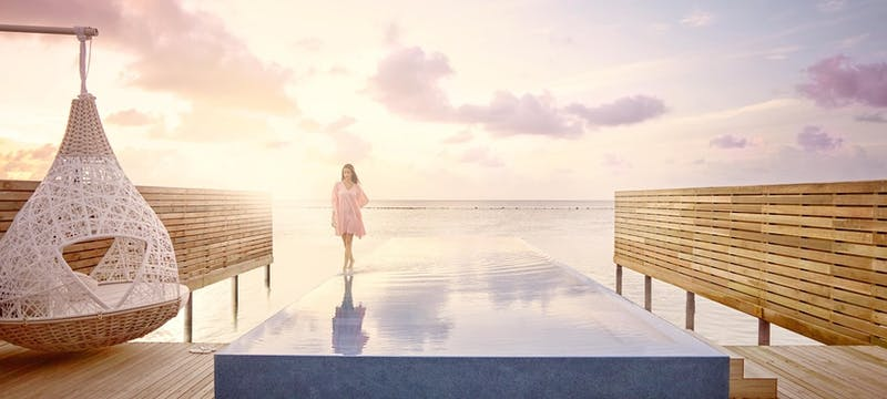 Temptation Pool Water Villa at LUX* South Ari Atoll, Maldives