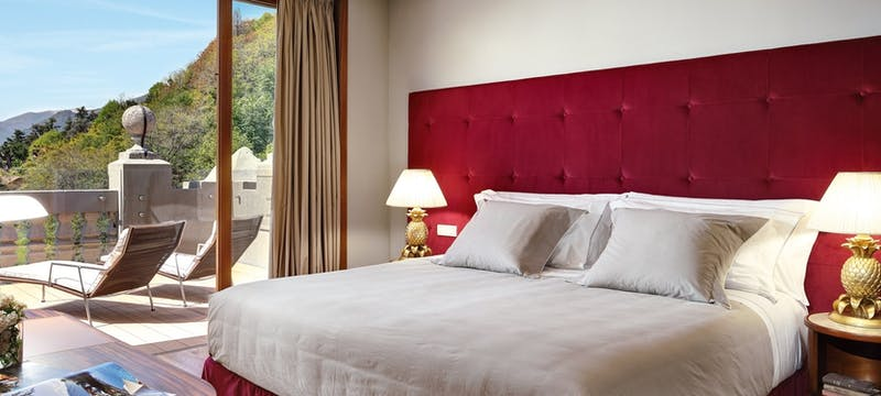 Corner Suite Bedroom at Grand Hotel Tremezzo, Lake Como