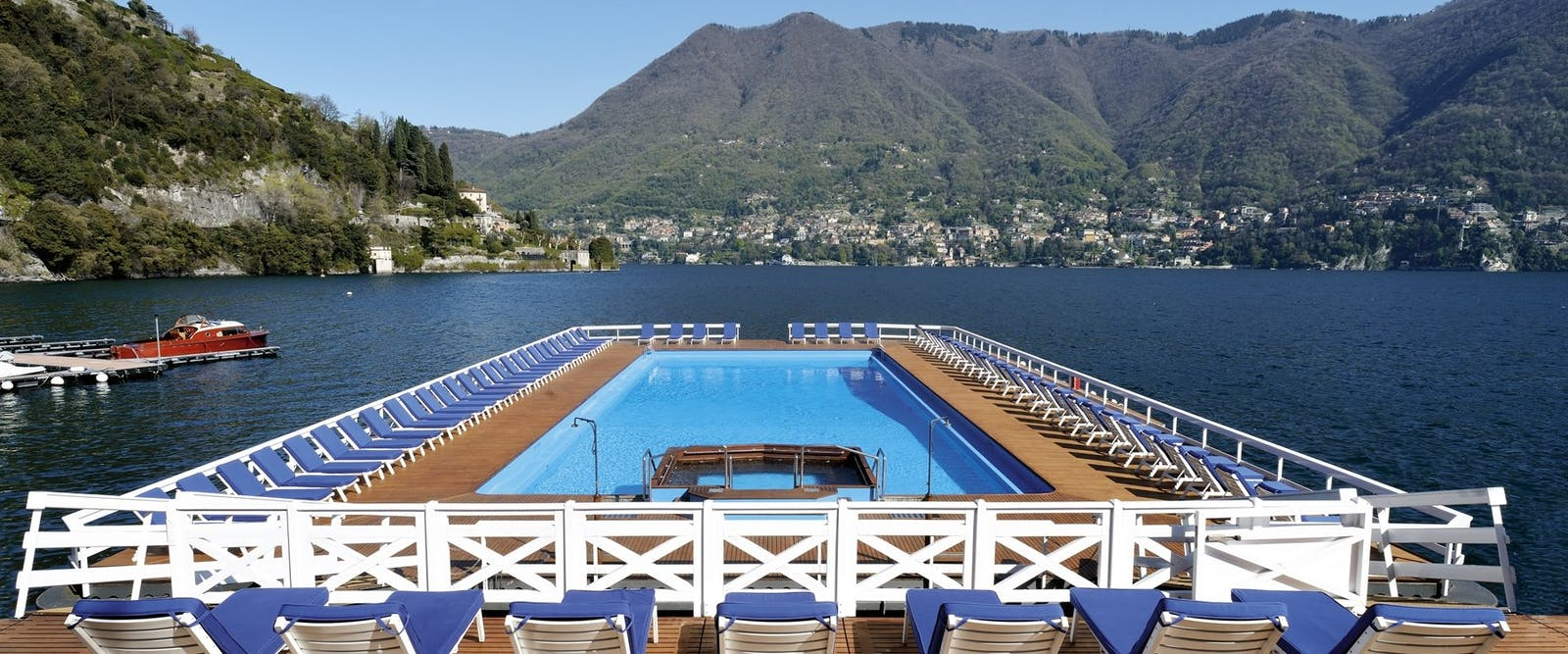 Floating Swimming Pool at Villa D'Este, Lake Como, Italy