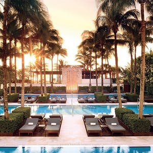 The pool at The Setai, Miami