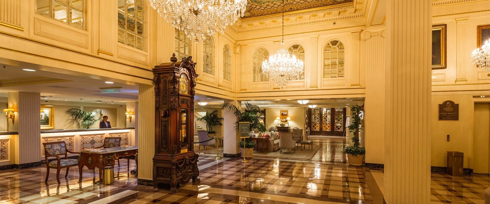 Lobby at Hotel Monteleone, New Orleans