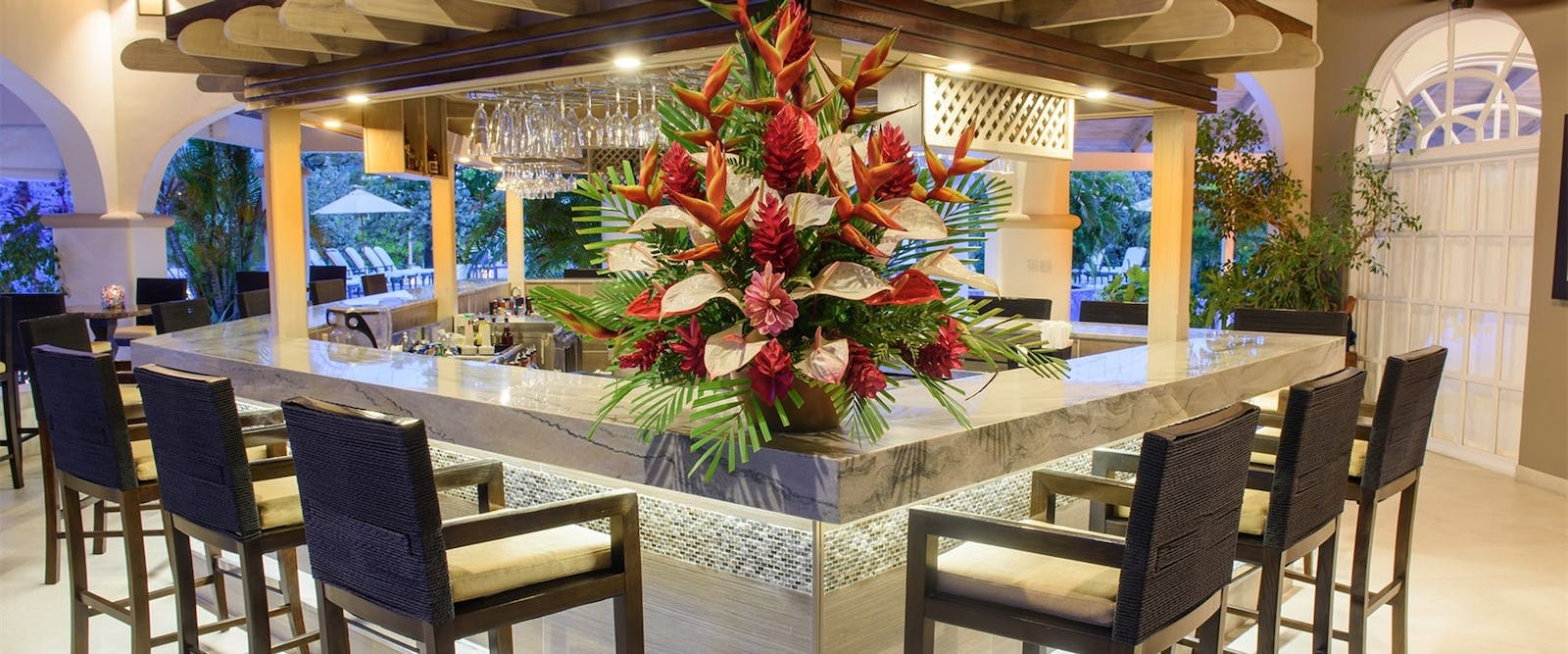 The bar at Spice Island Beach Resort, Grenada
