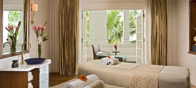 Couple spa treatment at Raffles, Singapore