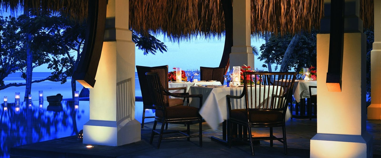 Evening Dining Area at The Oberoi Mauritius