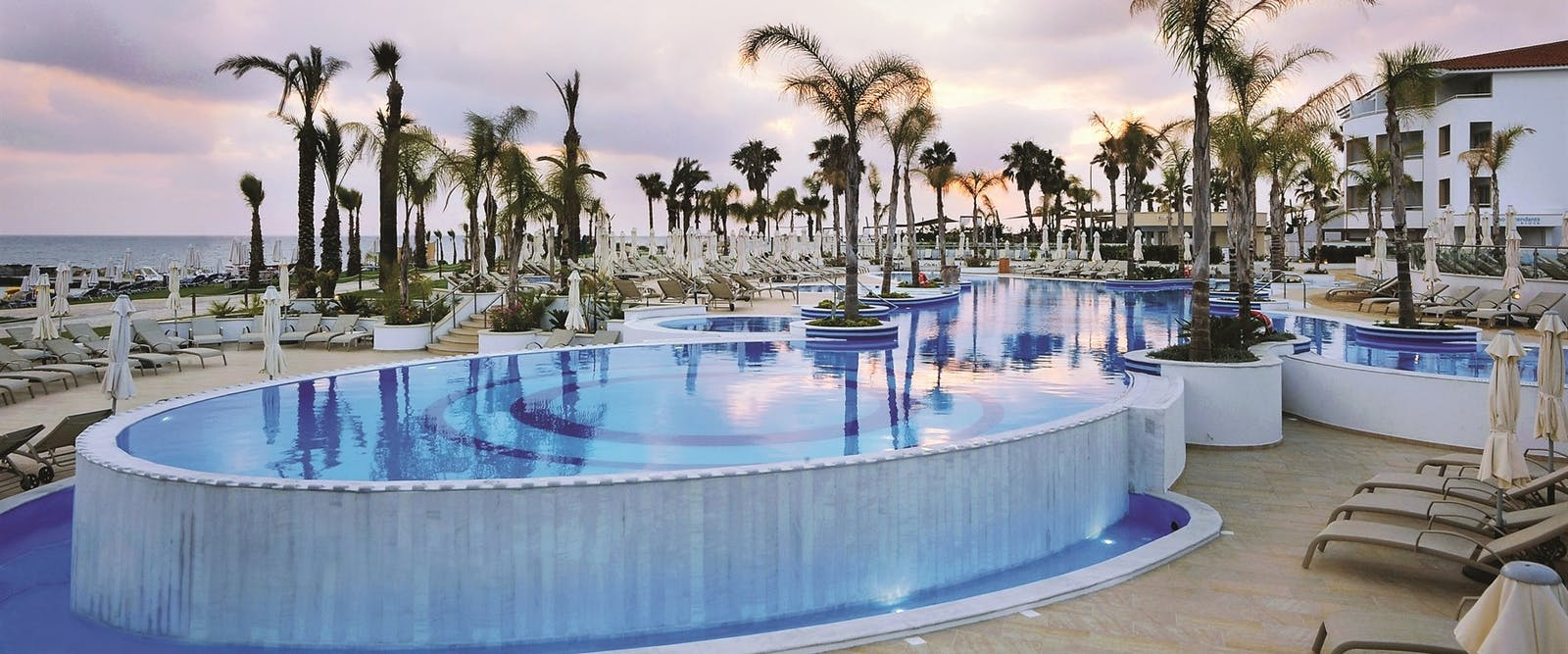Pool in the Evening, Olympic Lagoon Resort, Paphos, Cyprus