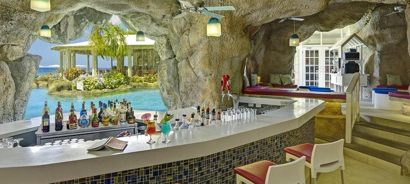 Interior of the cave bar at Crystal Cove, Barbados