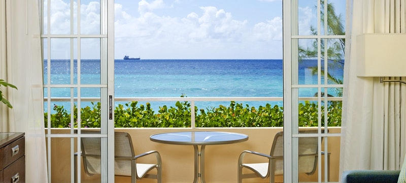 Deluxe ocean view junior suite at Turtle Beach Resort, Barbados