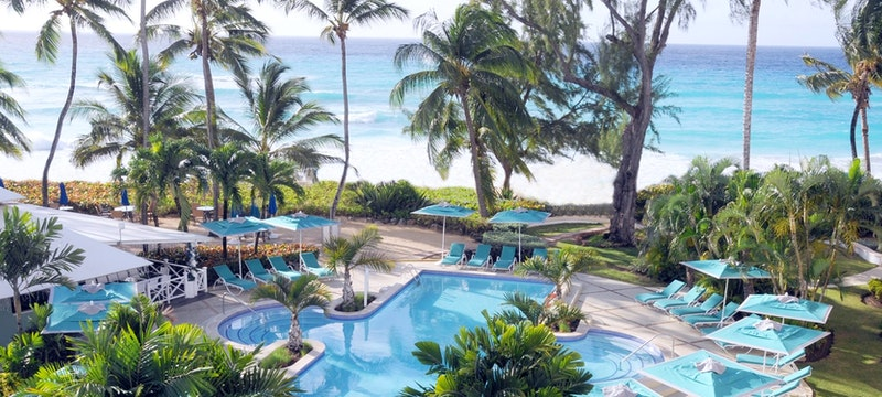 Main pool area at Turtle Beach Resort, Barbados